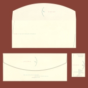 Curved Flap Envelope and Business Card