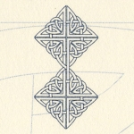 """Detail of the Celtic  """"Infinity"""" graphic"""