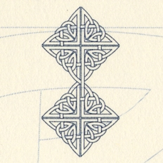 "Detail of the Celtic ""Infinity"" graphic"